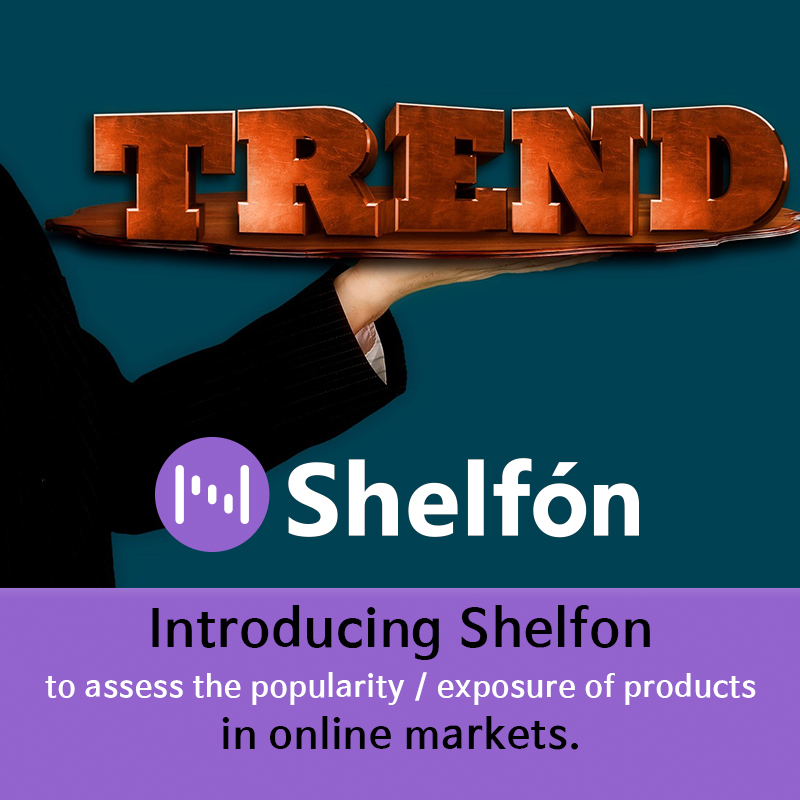 Introducing Shelfon to assess the popularity / exposure of products in online markets.